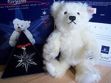 Steiff Swarovski 2005 Ltd Ed Crystal Bear + Christmas Star EAN 668401 New Boxed