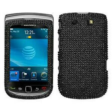 For BlackBerry Torch 9800 9810 Crystal Diamond Bling Hard Case Phone Cover Black