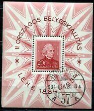 UNGARN 1934 BLOCK1 gestempelt mit SST TADELLOS 140€(I1066