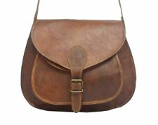 Women's Vintage Leather Handmade Messenger Crossbody Tote Handbag Boho Purse