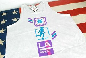 NWT Vintage 90s LA Workout Tank Top T Shirt THE BODY Beach Muscle Gym Oversize