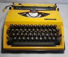 1970s Yellow ADLER Tippa Portable Typewriter QWERTY keys - Excellent Condition