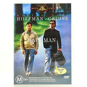 Rain Man Drama Movie Tom Cruise Dustin Hoffman DVD R4 Good Condition