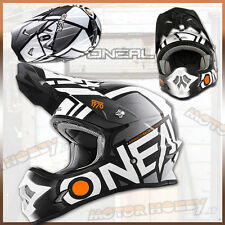 CASCO CROSS ENDURO MOTARD O'NEAL ONEAL SERIE 3 2017 RADIUM BLACK WHITE TAGLIA M