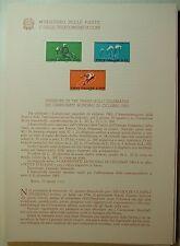 1962  ITALIA  Bollettino Postale N° 85 Mondiali di Ciclismo