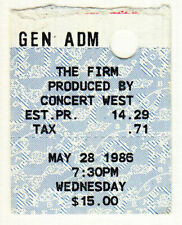 The Firm *Rare* 1986 Seattle Concert Ticket Jimmy Page led zeppelin rock metal