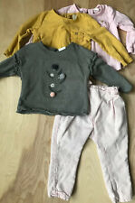 ZARA BABY Girls Set of 3 Tops 1 Pant Size 12-24 Months