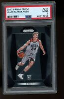 2017 Panini Prizm #247 Lauri Markkanen Chicago Bulls RC Rookie Card PSA 9 MINT