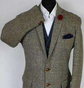 Harris Tweed Jacket Grey Alexandre Savile Row 42R 1960's TWEED X234