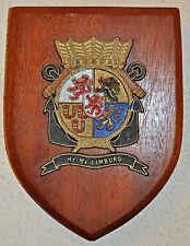 Hr Ms Limburg plaque shield crest destroyer Dutch Navy Netherlands gedenkplaat