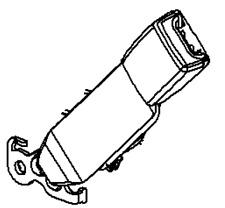 VAUXHALL SEAT BELT BUCKLE - GENUINE NEW - 13332237