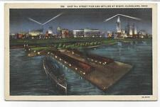 158,NIGHT VIEW,CLEVELAND STADIUM,PIER,TOWER-CLEVELAND,OH -PM 1935
