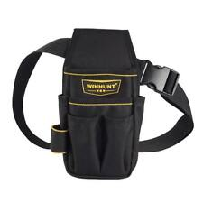 Multi-functional Pockets Waist Bag Tool Pouch Technician Tool Holder Black A