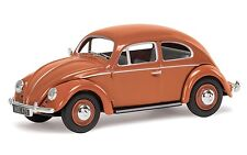 Corgi Vanguards VA01207 VW Beetle, Coral Oval Rear Window Saloon
