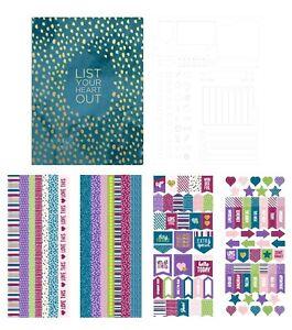 Park Lane Paperie Bullet 6x8 Journal Kit  100  Sheets 1 Stencil 4 Washi Sheets