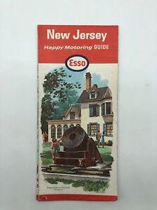 New Jersey NJ - Esso Happy Motoring Guide Map - November 1964