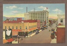 Vintage Postcard 1954 Central Ave & 4Th St Albuquerque New Mexico