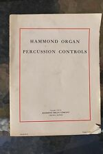 Hammond Organ Percussion Controls Sheet Music Tutorial