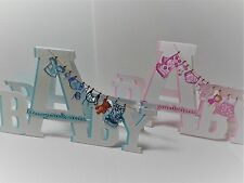 Hand-made 3D CONGRATULATIONS ON YOUR NEW BABY CARD : 60 colours available