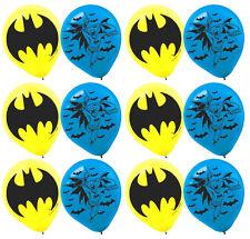 "BATMAN Printed Latex Balloons Birthday Party Decoration Supplies 12"" Bat Man ~12"