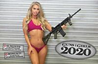 2020 GUNS & GIRLS DELUXE WALL CALENDAR TACTICAL rifle ar15 handgun