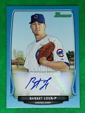 Barret Loux 2013 Bowman Card #BPA-BL Blue Border Autograph SN 314/500 - Cubs