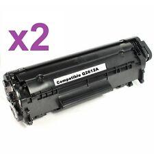 PACK 2 Toner NONOEM GEN LaserJet M1005 3015 M1319F FX10 3050 1018 Q2612A X