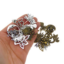 Pack of 10 Assorted Colors Vintage Alloy Pendants Charms Angel Shaped Crafts DIY