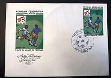 MADAGASCAR  674   PREMIER JOUR FDC     FOOTBALL ESPANA 82      80F     1982