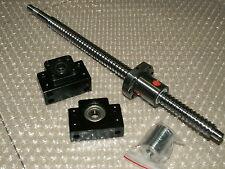 1 set anti backlash 16mm ballscrew RM1605-1400mm-C7+BK/BF12 end bearing CNC XYZ