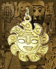 Aztec Sun Mayan Mexican Pendant Charm Gold pltd Jewelry