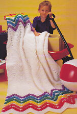 Crochet Pattern ~ RAINBOW RIPPLE AFGHAN ~ Instructions