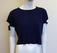 d931ae3e4aa47 Kitson Donna Mizani Cut-Out  Marilyn  Navy Crop Top Shirt size ...