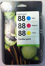 NEW GENUINE OEM HP 88 Combo Pack (CC606FN#140) Tri-Color/Black Ink. Expires 2013