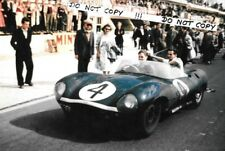 9x6 fotografia RON Flockhart/Ninian Sanderson JAGUAR D-Type, Le Mans 1956