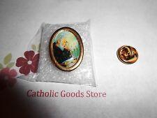 Saint. Padre Pio Italian gold tone Lapel Pin
