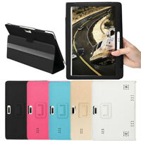 Universal Folio Leather Stand Cover Case For 10 Android Tablet PC 10.1 Inch New