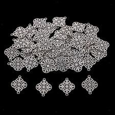 50x Filigree Flower Connectors Pendants Charms Jewelry Making Findings