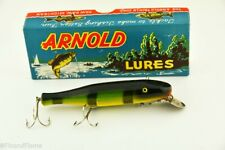 New listing Vintage Paw Paw Arnold Pikie Minnow Antique Fishing Lure in Box Slick Jj26