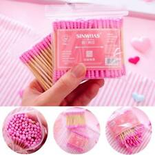 100pcs/ Pack Double Head Cotton Swab Makeup Cotton Buds Tip Wood Ears Care Tools