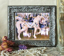 NEW PIC Carousel Horse COTTON CANDY Pony Print Antique Style Framed 11x13