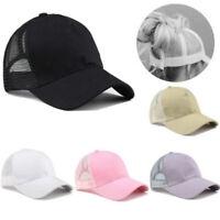 Ponytail Baseball Cap Women Messy Bun Baseball Hat Snapback Sun Sport Caps New