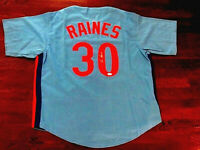 TIM RAINES HOF MONTREAL EXPOS 3X WSC YANKEES WHITE SOX SIGNED AUTO JERSEY JSA