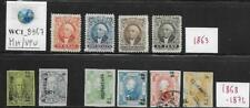 WC1_8967. MEXICO. Interesting lot of 1863-72 stamps. MH/Used