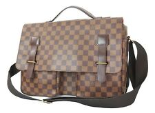 Authentic LOUIS VUITTON Broadway Damier Ebene Messenger Shoulder Bag #32601