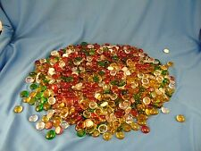 "Lot of Flat Glass Balls multicolored 3/4"" craft supplies mosiac flat marbles art"