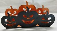 Yankee Candle Jack O Lantern Pumpkin Tea Light Holder Black Orange Halloween
