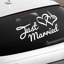 Just Married Car Sign - Wedding Car Window Sticker