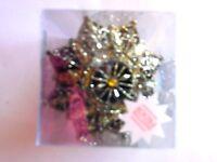 4 Black & Gold 4 Inch Snowflake glitter Shatter Resistant Christmas Ornament