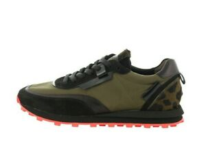 KENNEL & SCHMENGER ICON Sneakers Donna Khaky Tessuto e Pelle Sedicibagsandshoes
